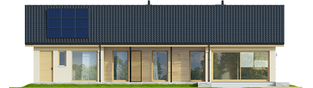 Projekt domu Eryk IV G1 ECONOMIC - elewacja tylna