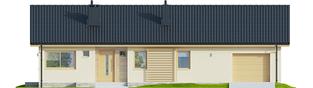 Projekt domu Eryk IV G1 ECONOMIC - elewacja frontowa