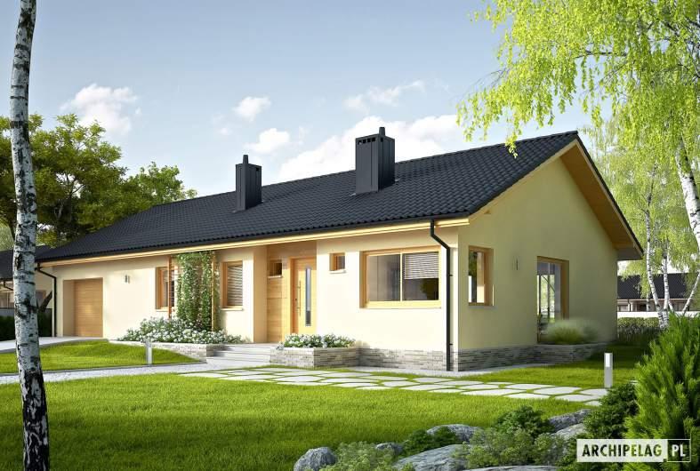 Projekt domu Eryk IV G1 ECONOMIC - wizualizacja frontowa