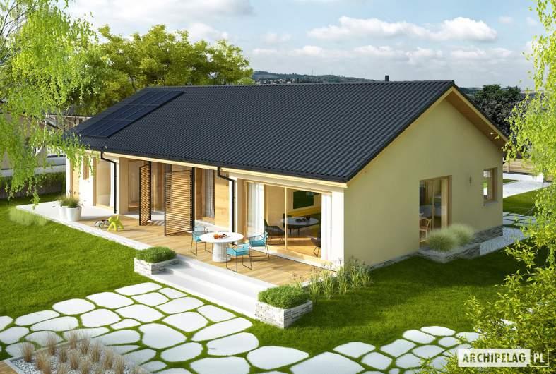 Projekt domu Eryk IV G1 ECONOMIC - widok z góry