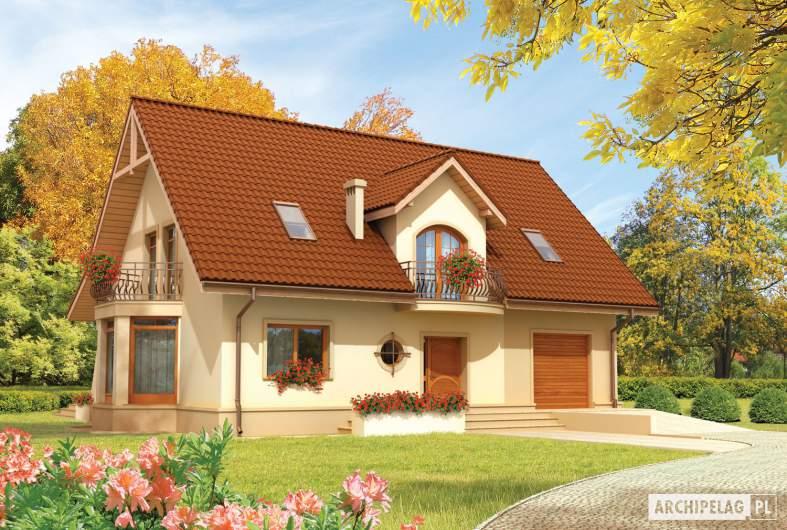 Projekt domu Blanka G1 - wizualizacja frontowa