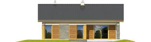 Projekt domu Bob II - elewacja tylna