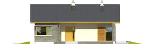 Projekt domu Bob II - elewacja frontowa