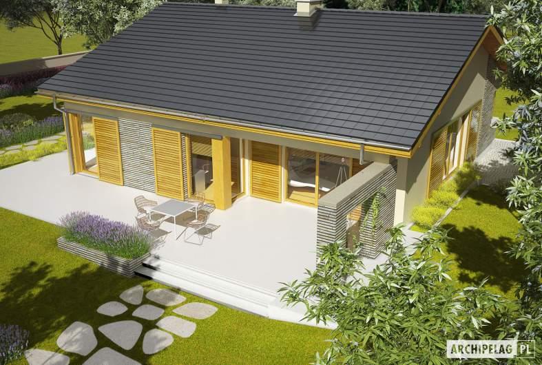 Projekt domu Bob II - widok z góry