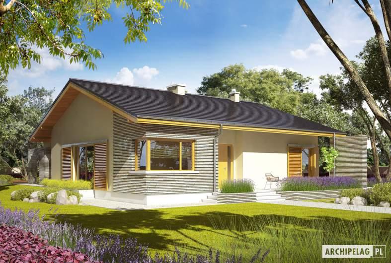 Projekt domu Bob II - wizualizacja frontowa