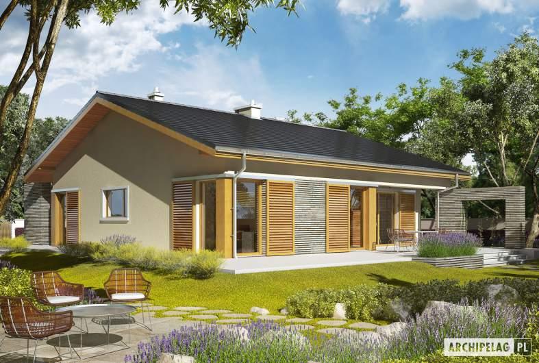 Projekt domu Bob II - wizualizacja ogrodowa