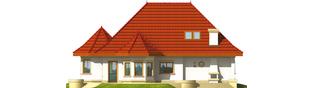 Projekt domu Esmeralda (mała) G2 - elewacja lewa