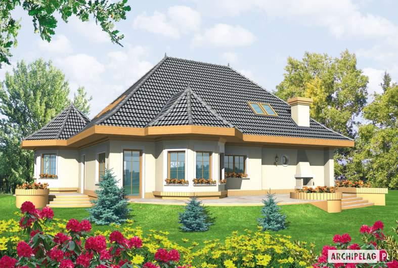 Projekt domu Esmeralda (mała) G2 - wizualizacja ogrodowa