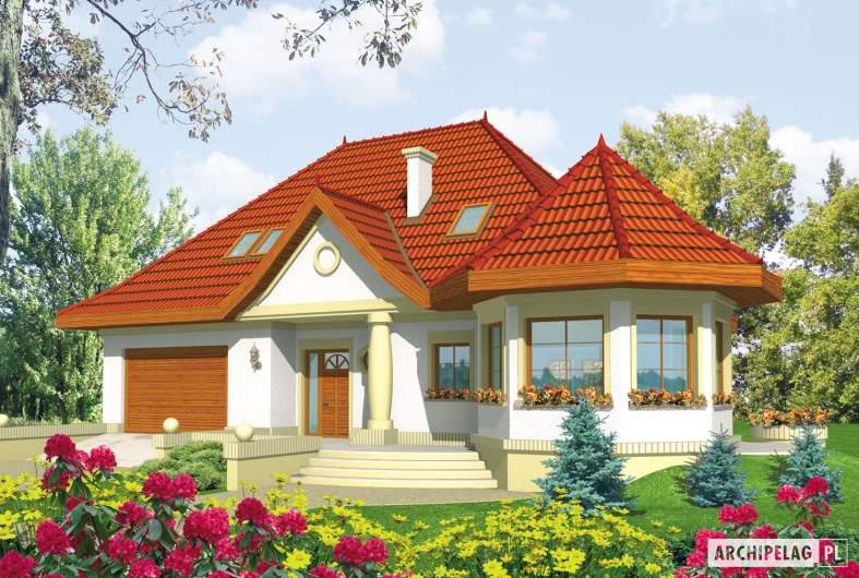 Projekt domu Esmeralda (mała) G2 - wizualizacja frontowa