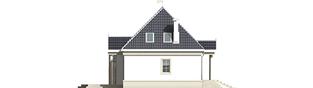 Projekt domu Gloria - elewacja lewa