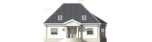 Projekt domu Gloria - elewacja frontowa