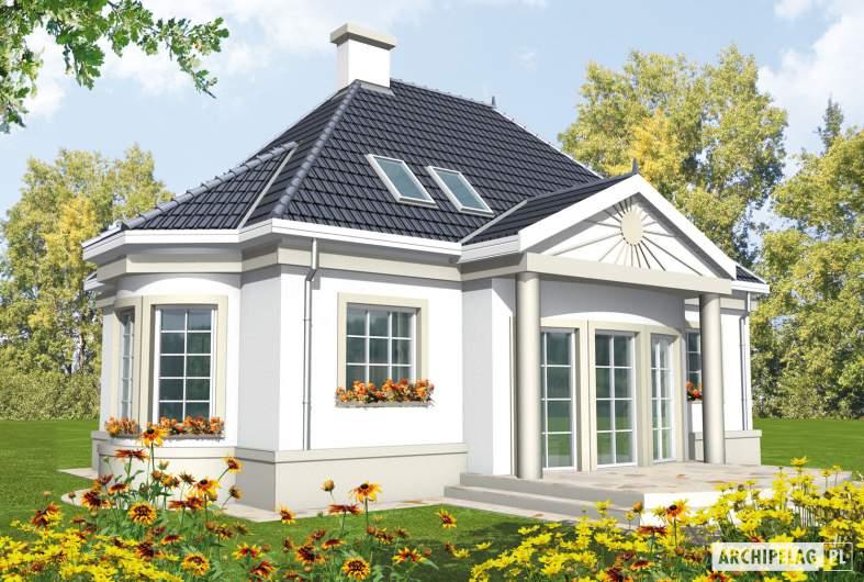 Projekt domu Gloria - wizualizacja ogrodowa