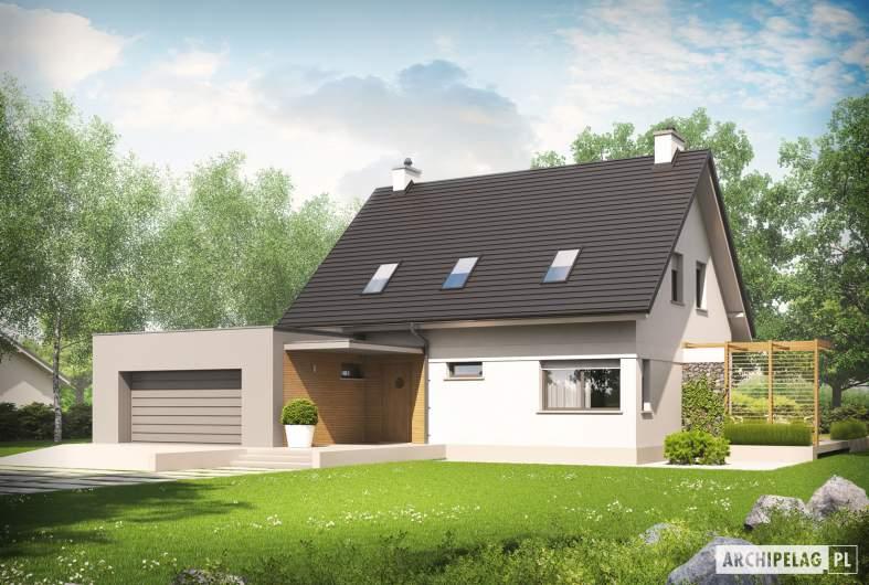 Projekt domu Tobiasz II G2 ENERGO - wizualizacja frontowa