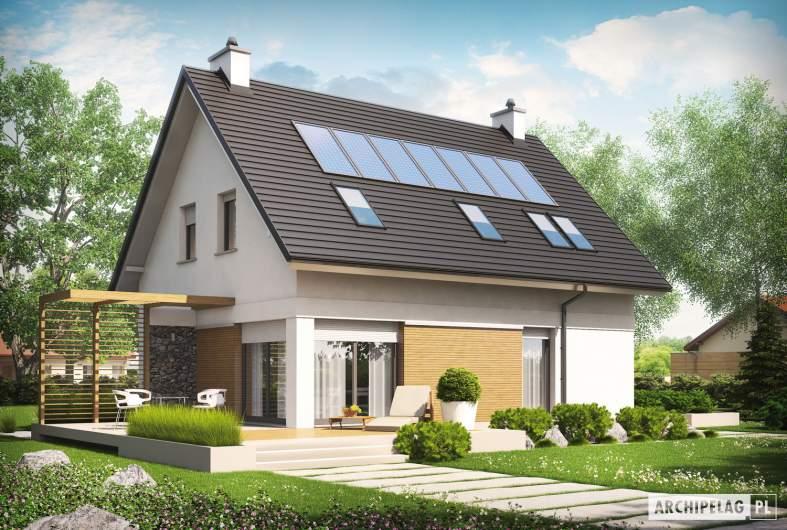 Projekt domu Tobiasz II G2 ENERGO - wizualizacja ogrodowa