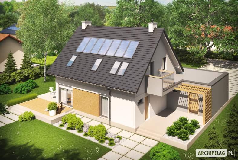 Projekt domu Tobiasz II G2 ENERGO - widok z góry
