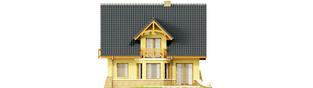 Projekt domu Konwalia - elewacja tylna