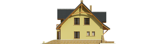 Projekt domu Konwalia - elewacja lewa