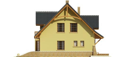 Конвалія - Projekt domu Konwalia - elewacja lewa