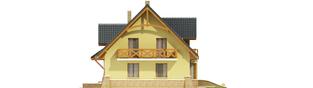 Projekt domu Konwalia - elewacja prawa
