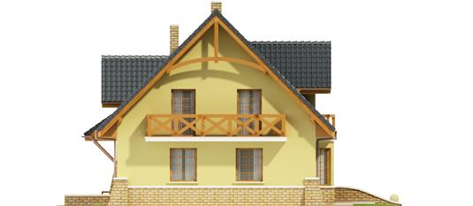 Конвалія - Projekt domu Konwalia - elewacja prawa