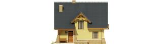 Projekt domu Konwalia - elewacja frontowa