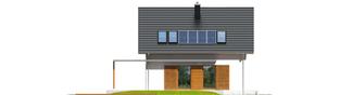 Projekt domu Lea (wersja B) - elewacja tylna