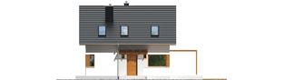 Projekt domu Lea (wersja B) - elewacja frontowa