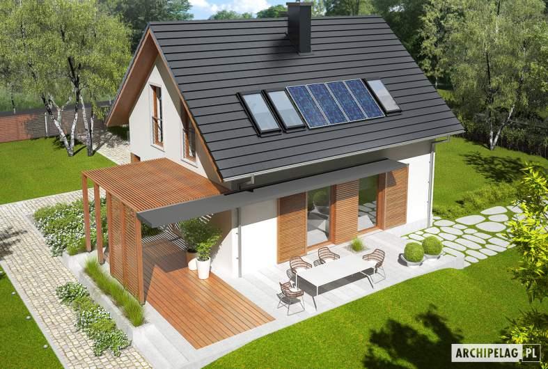 Projekt domu Lea (wersja B) - widok z góry