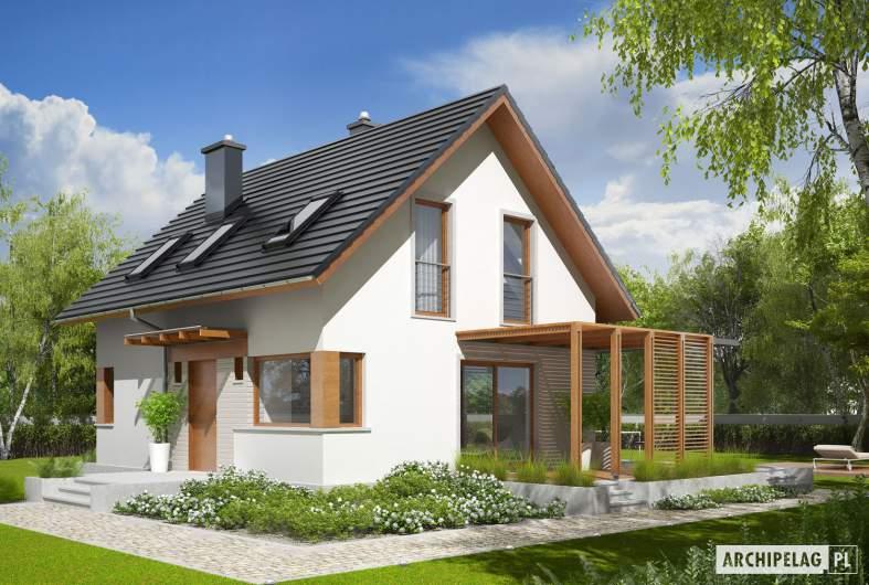 Projekt domu Lea (wersja B) - wizualizacja frontowa