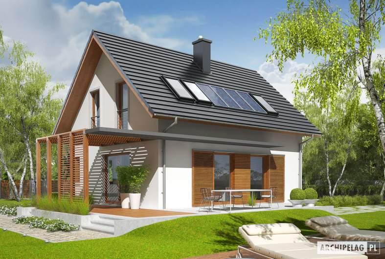 Projekt domu Lea (wersja B) - wizualizacja ogrodowa