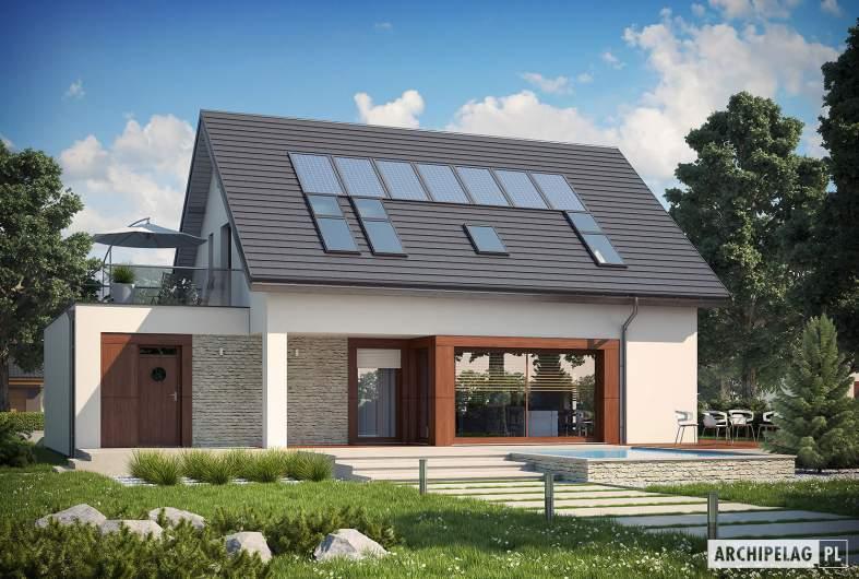 Projekt domu Santiago G1 ENERGO - wizualizacja ogrodowa