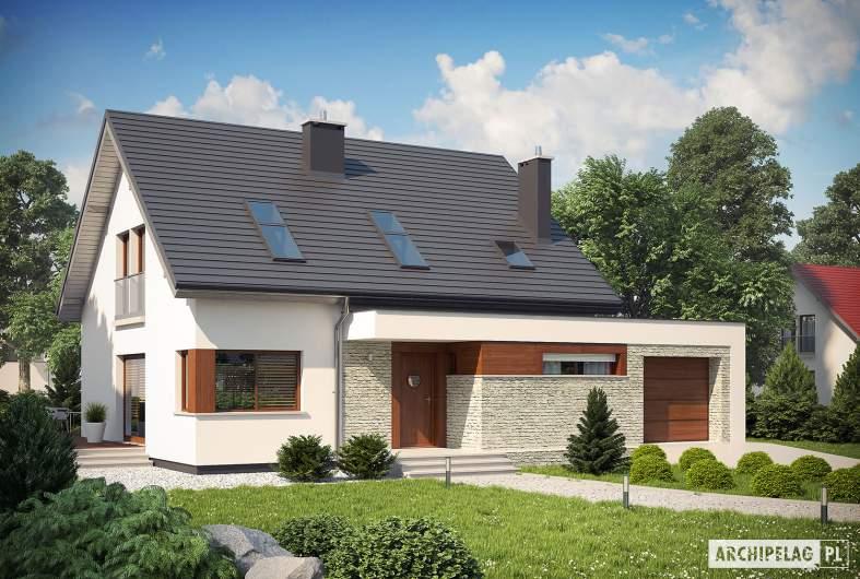Projekt domu Santiago G1 ENERGO - wizualizacja frontowa