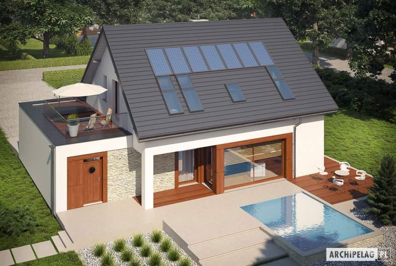 Projekt domu Santiago G1 ENERGO - widik z góry