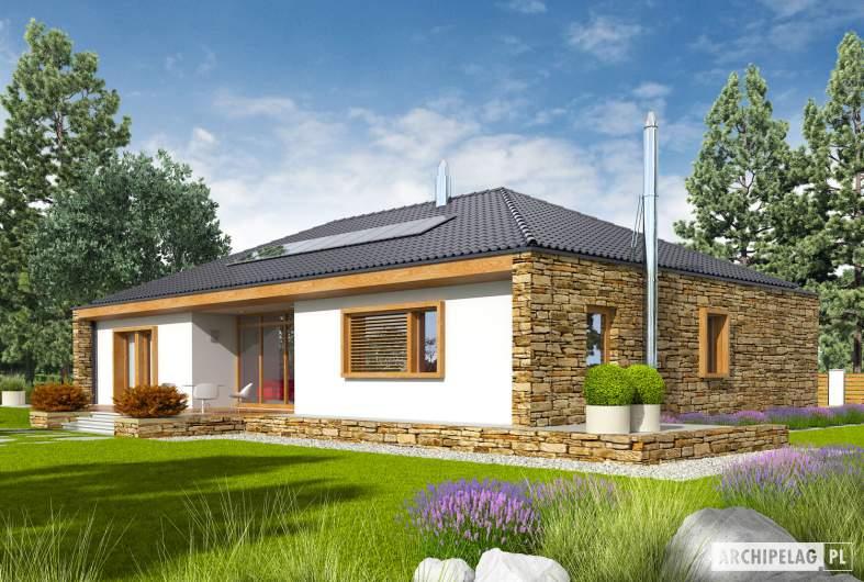 Projekt domu EX 8 G2 (wersja B) - wizualizacja ogrodowa