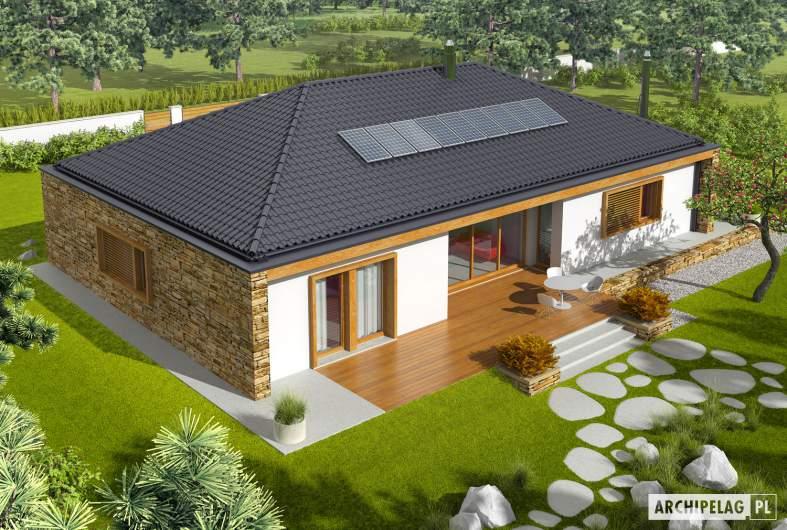 Projekt domu EX 8 G2 (wersja B) - widok z góry