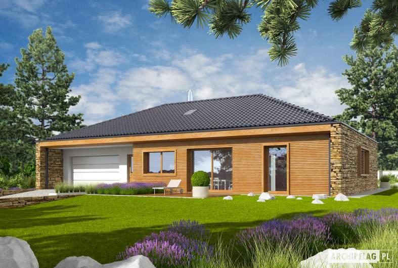 Projekt domu EX 8 G2 (wersja B) - wizualizacja frontowa