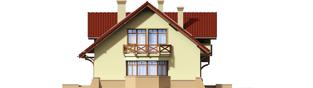 Projekt domu Sasanka - elewacja lewa