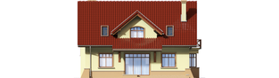 Projekt domu Sasanka - elewacja tylna