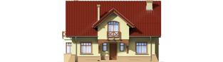 Projekt domu Sasanka - elewacja frontowa