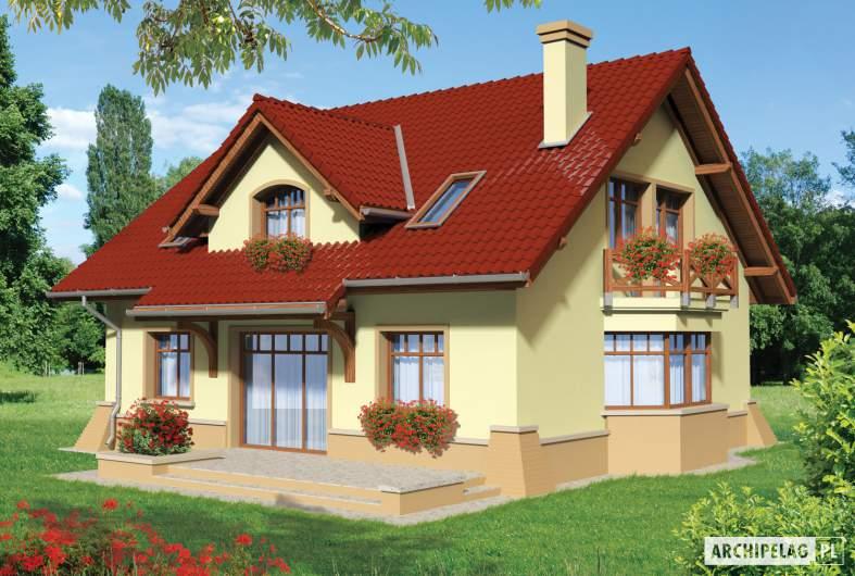 Projekt domu Sasanka - wizualizacja ogrodowa