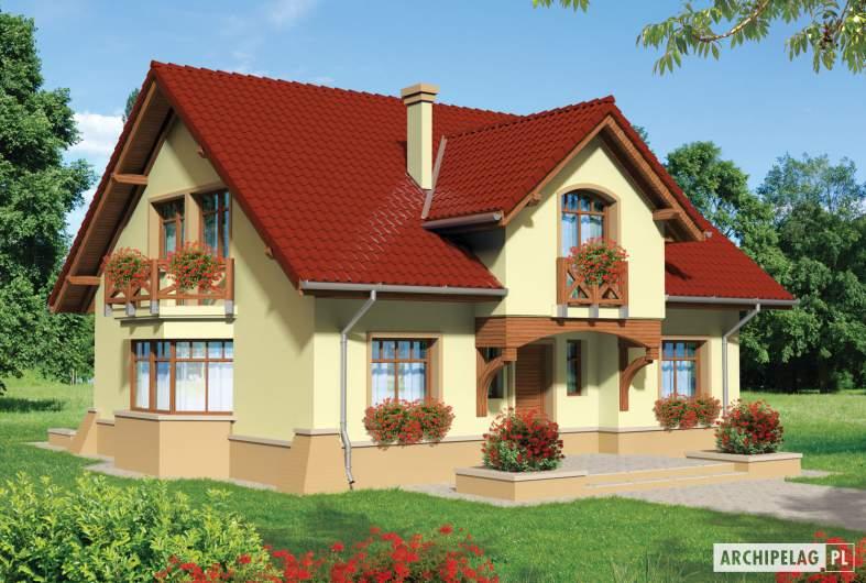 Projekt domu Sasanka - wizualizacja frontowa