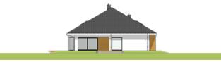 Projekt domu Tanita II G2 01 - elewacja tylna