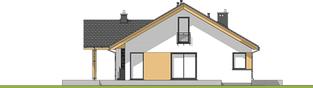 Projekt domu Simon - elewacja lewa