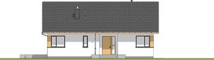 Projekt domu Simon - elewacja frontowa