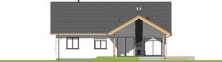 Projekt domu Simon - elewacja tylna