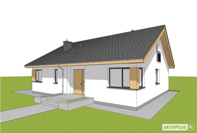 Projekt domu Simon - wizualizacja frontowa