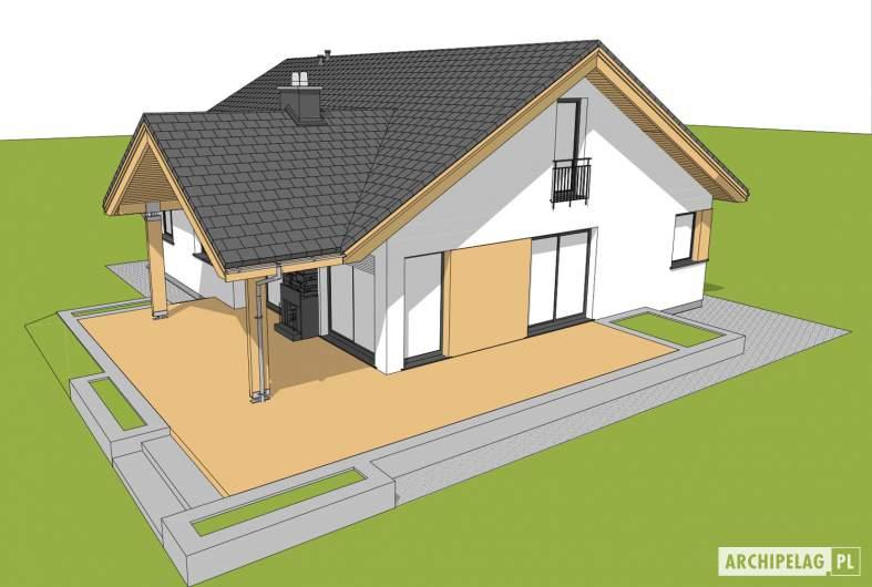 Projekt domu Simon - widok z góry