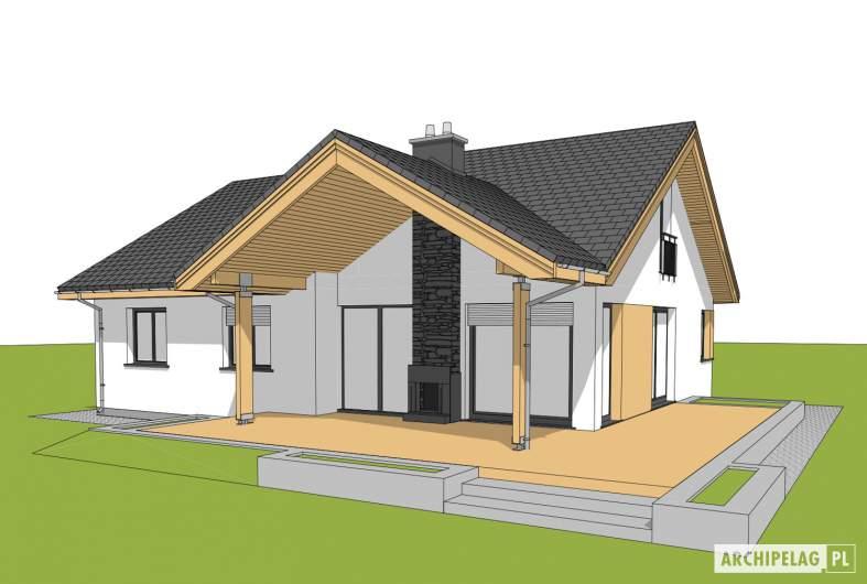 Projekt domu Simon - wizualizacja ogrodowa
