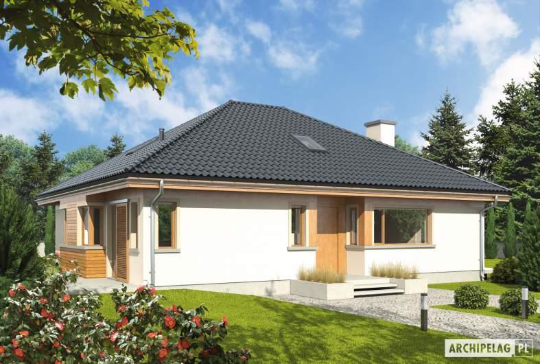 Projekt domu Andrea III - wizualizacja frontowa