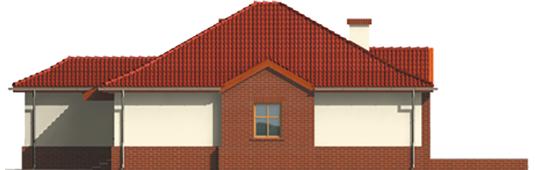 Zaria G1 - Projekt domu Żaneta G1 - elewacja prawa